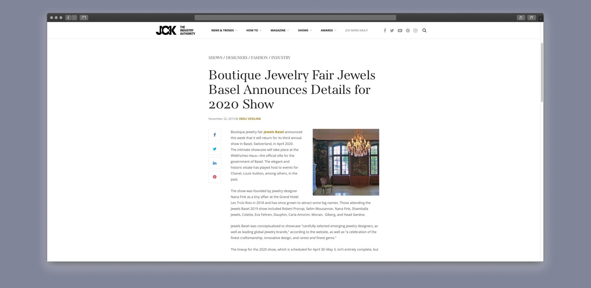 JewelsBasel press